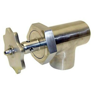 """KETTLE DRAW-OFF VALVE 3"""" SS w/KNOB- MARKET FORGE S08-0008, S20-0106"""