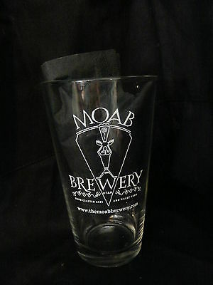 BEER Glass~ MOAB Brewery ~ Hand Crafted Ales & Good Food ~ Utah Brewing Company