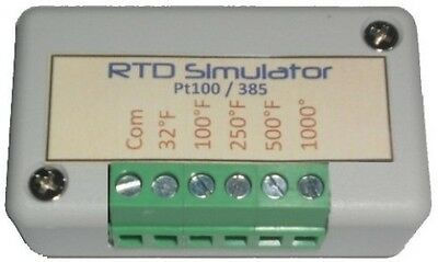 RTD Simulator and Tester TROUBLESHOOTING simulates 2-wire, 3wire, 4-wire Pt 100