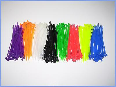 400pcs Cable tie zip lock 2.5 x 100mm ~ 4 in with 8 color (8x50pcs)