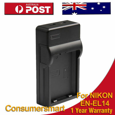 Battery Charger For Nikon EN-EL14 Coolpix D3100 D3200 D5100 D5200 P7000 P7700 AU