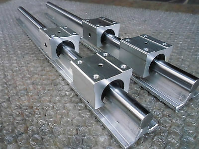 SBR12-1400//880//380 MM SUPPORTED LINEAR RAIL SHAFT+ 12 SBR12UU Rounter Bearing 2