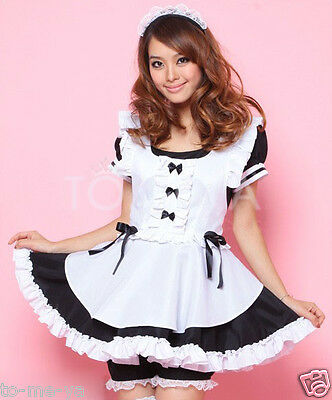 Sexy Lovely French Maid Dress Waitress Girl Cosplay Costume Fancy Dress Party
