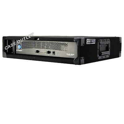 Rack case 4U-space for effect processors and short depht amps