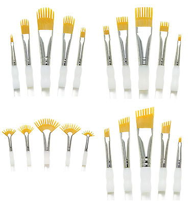 Royal Aqualon Wisp Comb Brushes Artists Watercolour Acrylic Paint Brush Art Sets