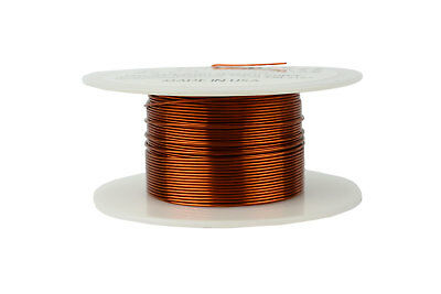 TEMCo 22 AWG Gauge Enameled Copper Magnet Wire 200C 4oz 125ft Coil Winding