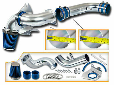 BLUE COLD AIR INDUCTION INTAKE KIT+DRY FILTER FOR FORD 96-04 Mustang GT 4.6 V8