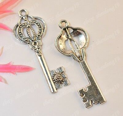 10pcs tibet silver nice Key charms 43x16mm SH1007