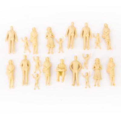 20pcs Unpainted DIY Fun Toy Project Model Train People Figures 1:25 G Scale