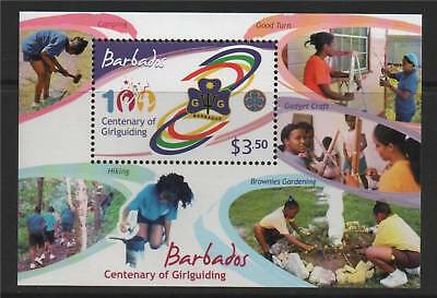 Barbados 2010 Cent.of Girl Guides MS NEW ISSUE MNH