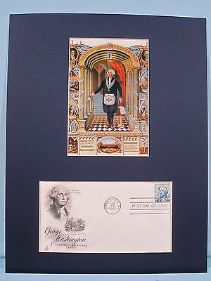 George Washington as a Freemason & First day Cover