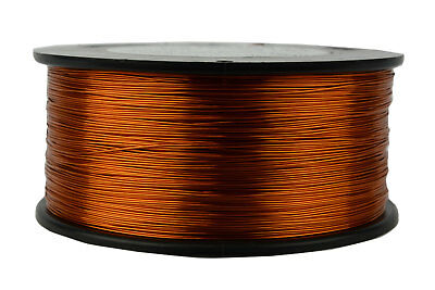 24 AWG Gauge Enameled Copper Magnet Wire 200C 1.5lb 1185ft Magnetic Coil Winding