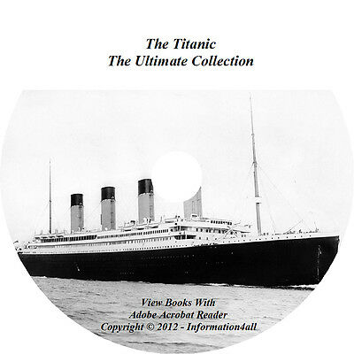 20d5d28a THE TITANIC, ULTIMATE Collection 11 Books, 1 Audio Book, 1 Video on CD / DVD