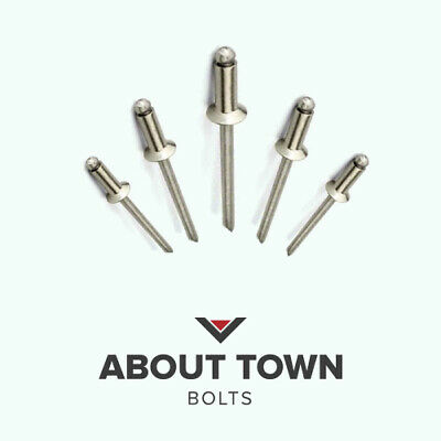 4.8mm x 8mm Blind Pop Rivets Countersunk Aluminium Body Steel Stem PACK OF 50