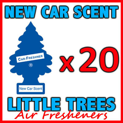 20 x NEW CAR SCENT LITTLE TREES AIR FRESHENERS Car Truck Fragrance Freshener