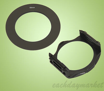 58mm 58 Adapter Ring + Filter Holder Mount for Cokin P Series