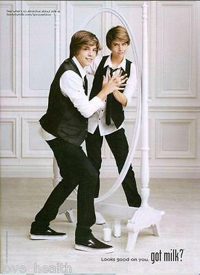 Dylan & Cole Sprouse - Got Milk? - Magazine Pinup - Poster - Teen Boy Actor