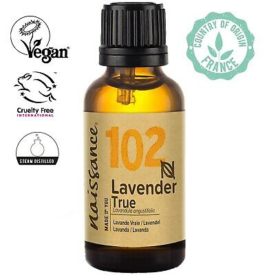 Naissance Lavender True Essential Oil 30ml  Use in Aromatherapy, Massage Blend