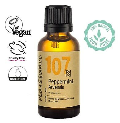 Naissance Peppermint Arvensis Essential Oil 30ml  Use in Aromatherapy, Massage
