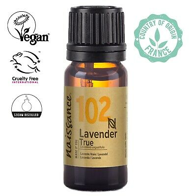 Naissance Lavender True Essential Oil 10ml  Use in Aromatherapy, Massage Blend