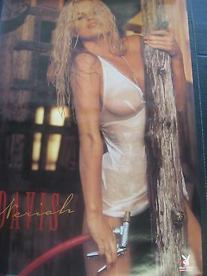 1997 Playboy Neriah Davis blonde wet shirt vintage pinup wall poster PBX1223