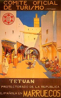 """Morocco Arab Arabic People Country Travel Tourism 16/""""X20/"""" Vintage Poster FREE SH"""