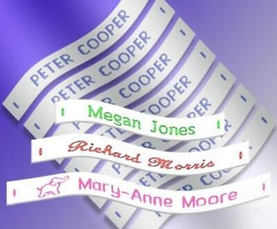 144 Woven Sew in School Name Tapes Name Tags Labels - High Quality School Labels