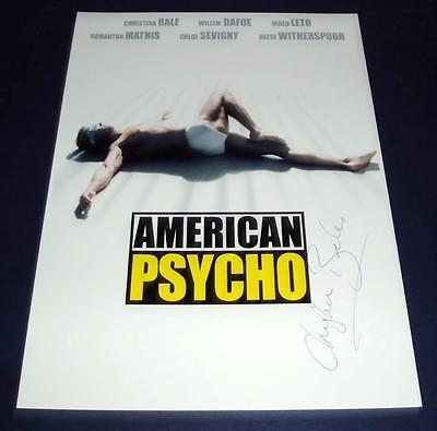 American Psycho Movie Cast Pp Signed Poster 12X8 Bale