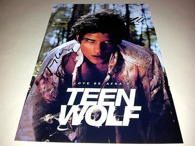 "Teen Wolf Cast X2 Pp Signed Poster 12""x8"" Tv Series Tyler Posey"