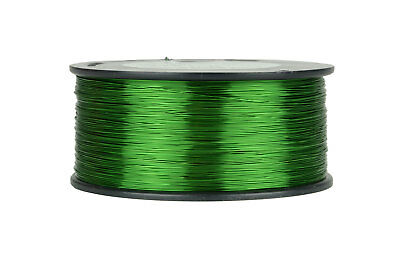 Magnet Wire 26 AWG Gauge Enameled Copper 155C 1.5lb 1887ft Magnetic Coil Green