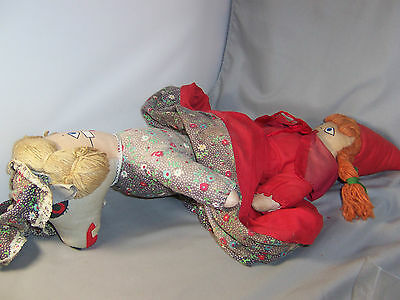 VTG LARGE TOPSY TURVY STORY DOLL 3-IN-1 LITTLE RED RIDING HOOD GRANDMA & WOLF