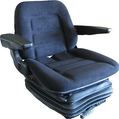 DELUXE TRACTOR SUSPENSION SEAT FABRIC/ARMRESTS/GRAMMER DS85/h90 STYLE BRAND NEW!