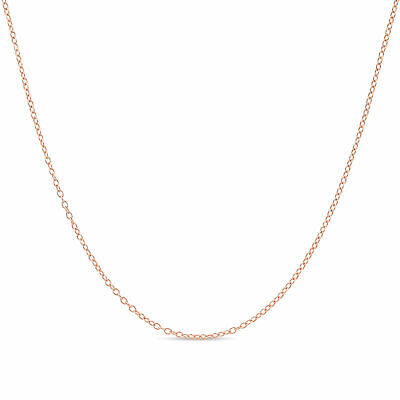 14k Gold Plated 925 Sterling Silver Cable Chain Necklace 1.3 Choose your length!