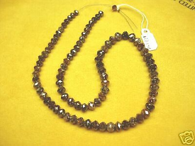 127.14 Carat 87 AMAZING RARE Natural RED Faceted ROUGH DIAMOND Bead NECKLACE