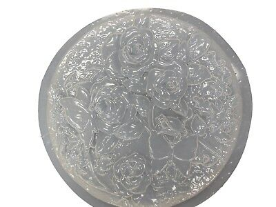 Rose & Butterfly Stepping Stone Plaster or Concrete Mold 1013 Moldcreations
