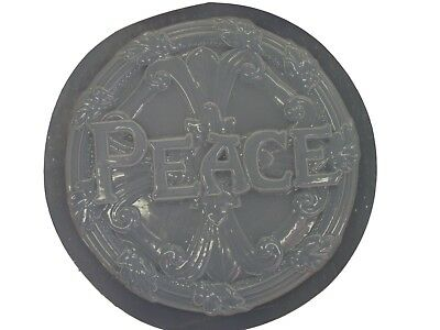PEACE CONCRETE PLASTER CEMENT STEPPING STONE GARDEN MOLD 1016 Moldcreations