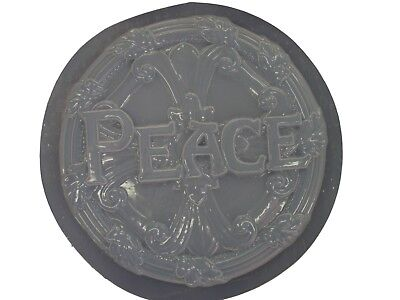 Peace Concrete Plaster Stepping Stone Plastic Mold 1016