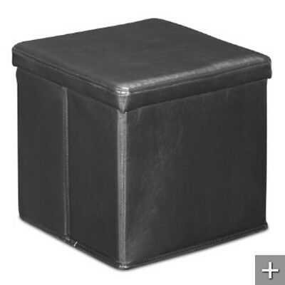 NEW-Skammel Collapsible Leatherette Storage Ottoman-Choice of Colors-ZUO