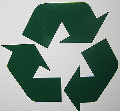 GREEN RECYCLE Vinyl decal sticker heavy duty 7 year outdoor quality
