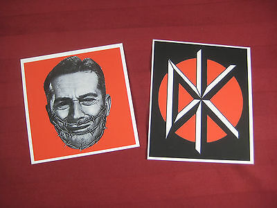 DK Dead Kennedys Vinyl Decals stickers lot x 2 Punk Rock band
