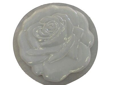 Rose Floral Flower Stepping Stone Plaster or Concrete Mold 1104 Moldcreations