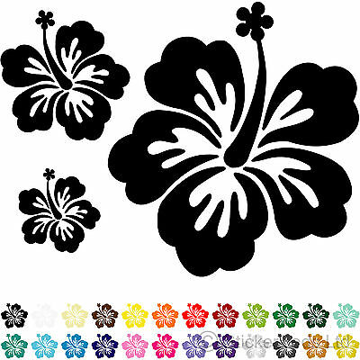 20 HIBISCUS FLOWER CAR STICKERS / WALL STICKERS decals