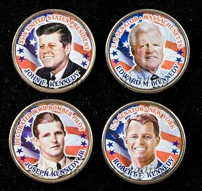 Kennedy Brothers 4 Coin Colorized Quarter Set (4 Coins)