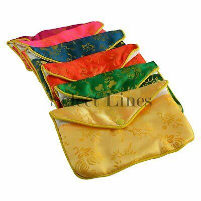 New 12 pc Chinese Zipper Pouch Display 3x2-1/2