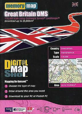 NEW MEMORY MAP Great Britain Top Up £100 Map Shop Download