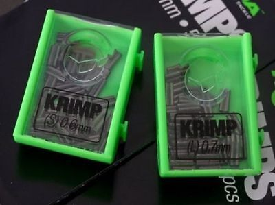 Korda Carp Fishing Krimps Spare 0.6mm + 0.7mm Crimps