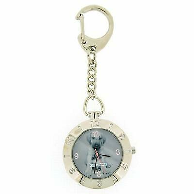 Keith Kimberlin Puppy Design Grey Dial Ladies Keyring Watch KK13