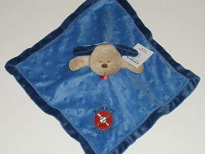 NWT Carters Mommy's Allstar Blue Puppy Dog Security Blanket Baby Rattle Lovey