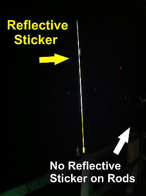 3M Reflective Sticker for Fishing Rods (1 strip 15X 5cm - Colour White )