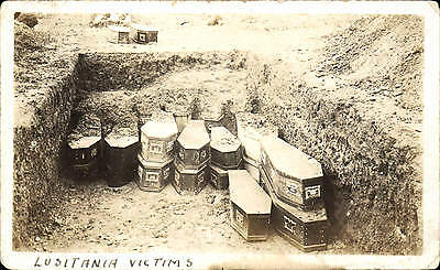 Cunard RMS Lusitania Victims. Coffins.